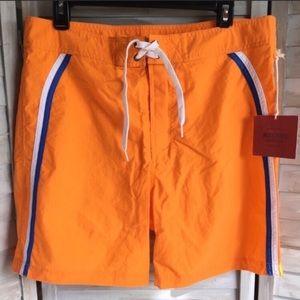MOSSIMO Retro board short Sz 34 orange swim suit